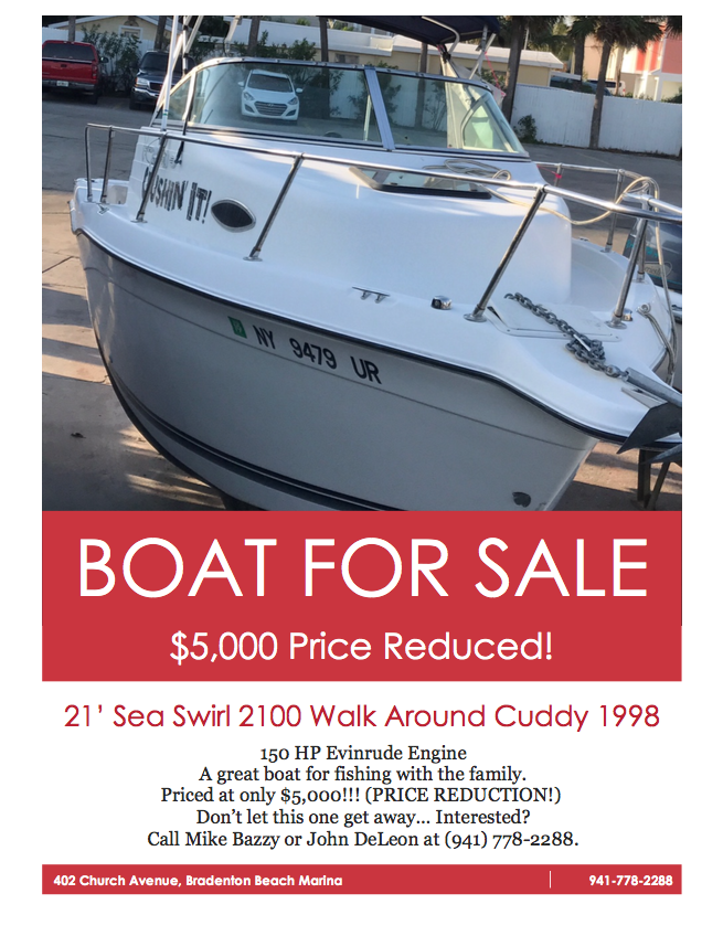 Boats For Sale - Bradenton Beach Marina
