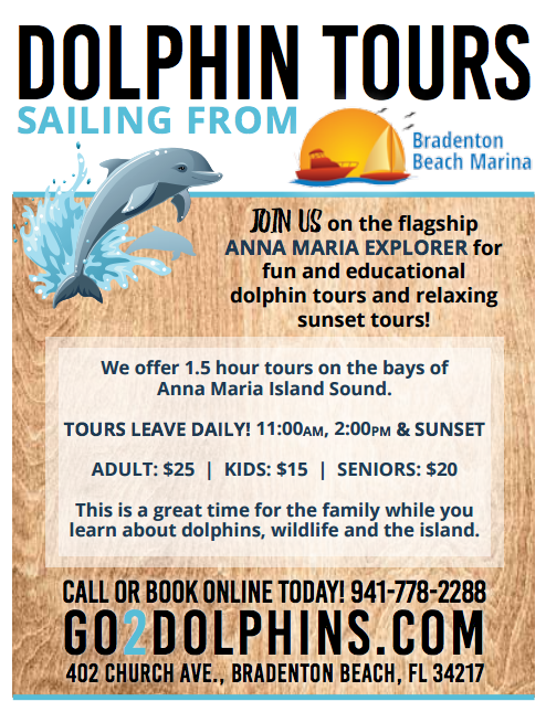 Sunset Cruises and Dolphin Tours Offered By Bradenton Beach Marina